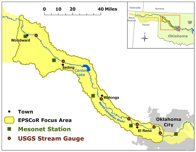 North Canadian River Watershed Study Area | OK EPSCoR on